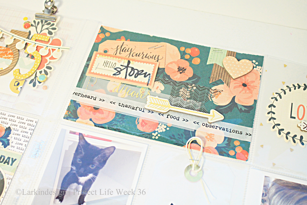 Floral Card close up