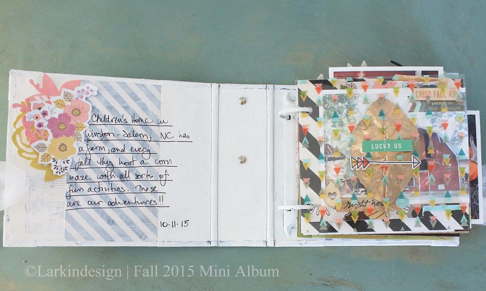 Fall Mini Album Front Page