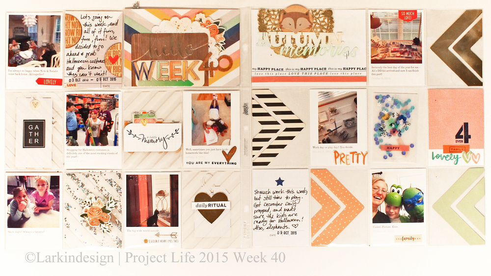 Project Life 2015 Week 40 Using Gossamer Blue Kits