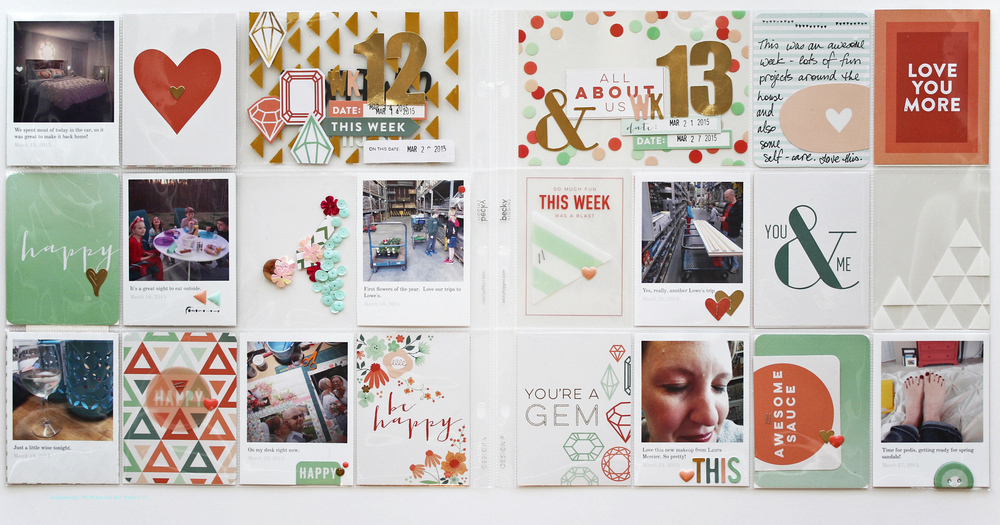 Project Life 2015 Weeks 12 13