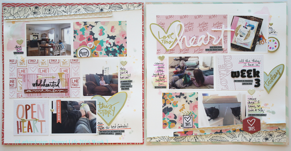 Project Life 2016 Week 3 Traditional Layout
