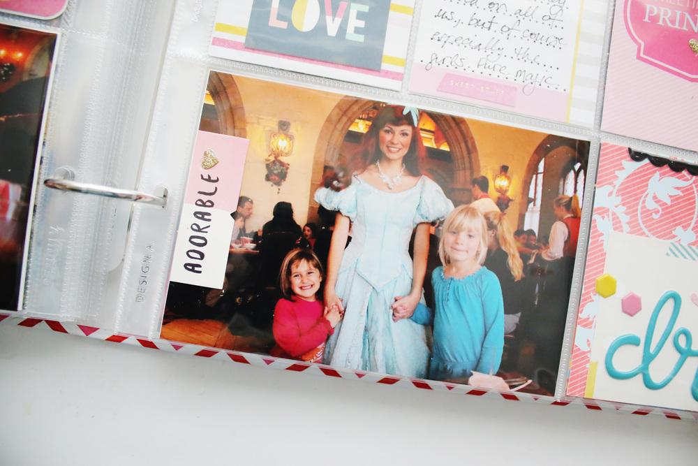 Disney Epcot Princess Dinner Crate Paper Cute Girl