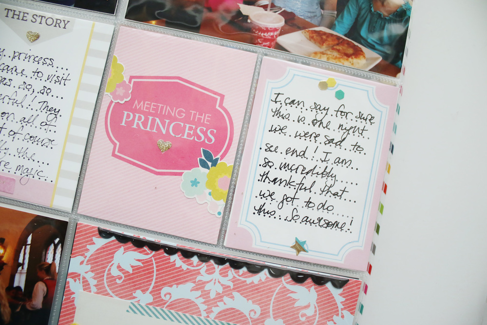 Disney Epcot Princess Dinner Crate Paper Cute Girl