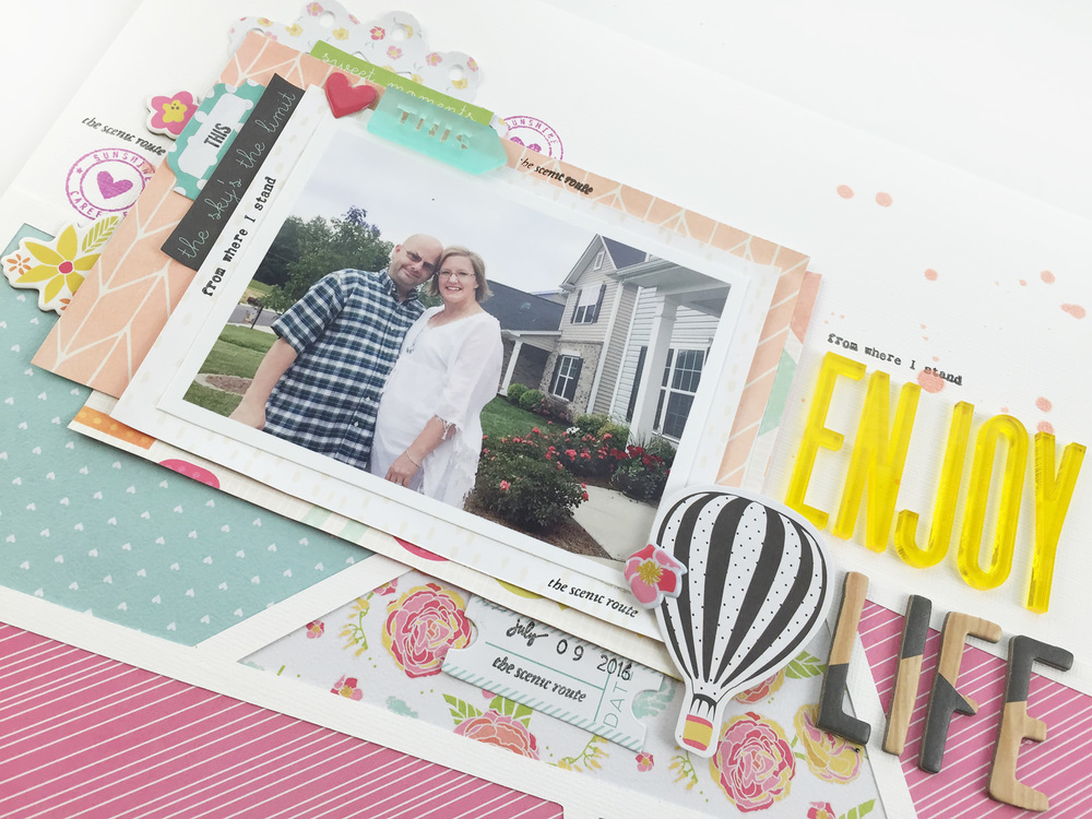 Enjoy Life Traditional Scrapbook Layout