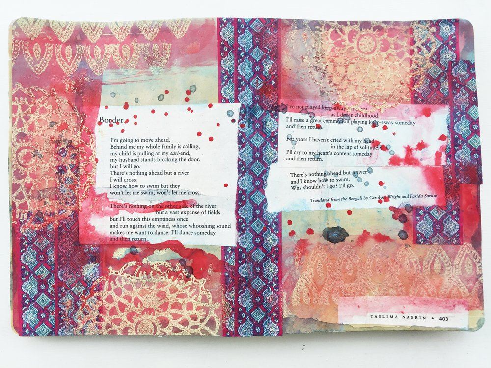 Art Journal Vol 03 No 03 | Border A Poem by Taslima Nasrin