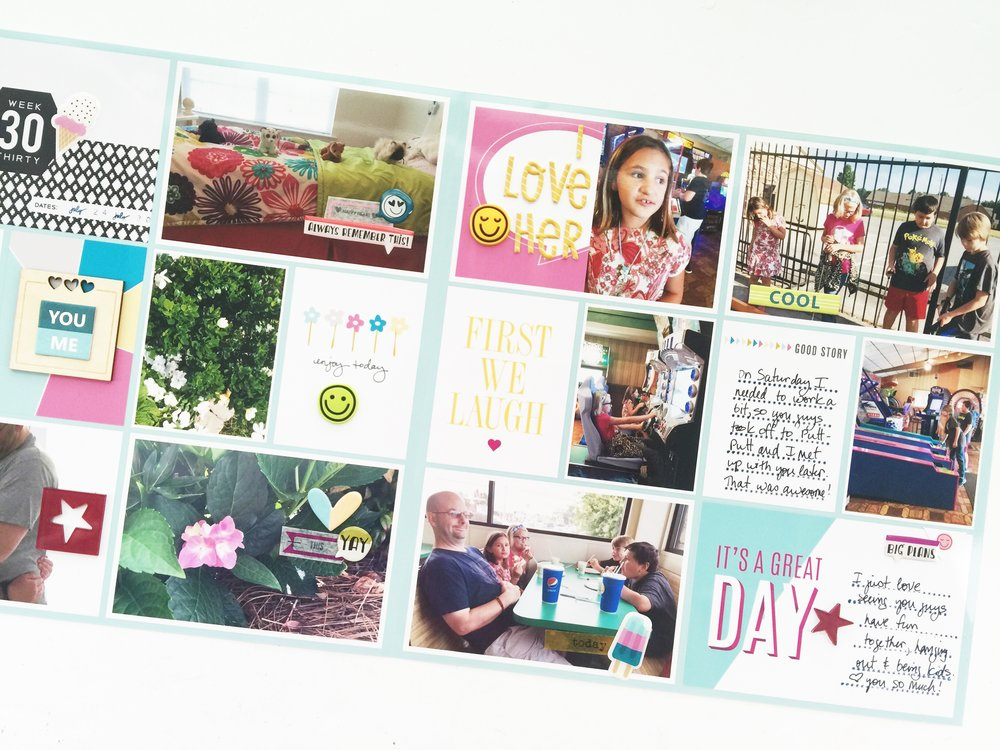 Larkindesign Theresa Moxley | Project Life 2016 Week 30