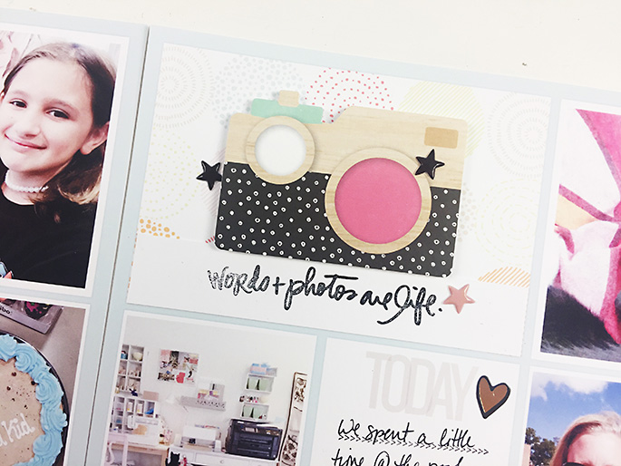 Larkindesign Project Life 2016 Week 32 | Crate Paper Cute Girl!