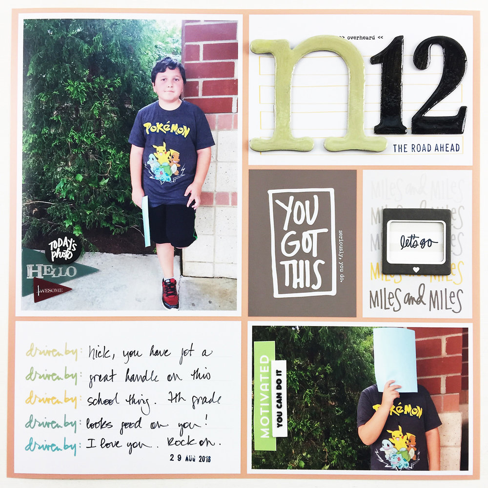 Project Life 2016 Week 35 Part 1 | Back to School