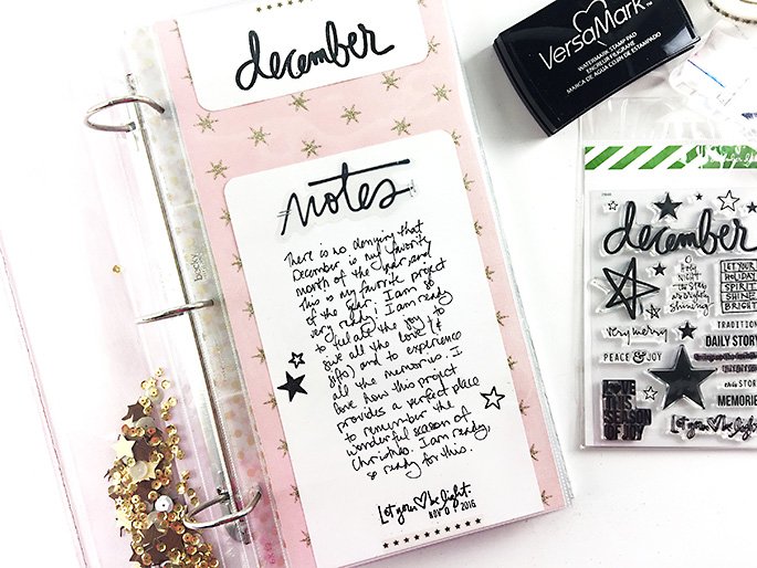 Larkindesign {December Daily 2016} Creating the Introduction Page