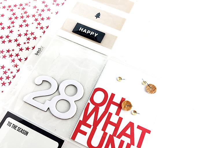 Larkindesign Sahlin Studio Creative Team {December Album 2016} Foundation Pages using Oh What Fun!