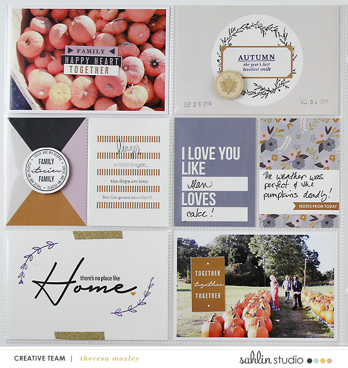 Larkindesign TBT 2014 Project Life Week 40 | Kindred MPM Sahlin Studio Add-ons