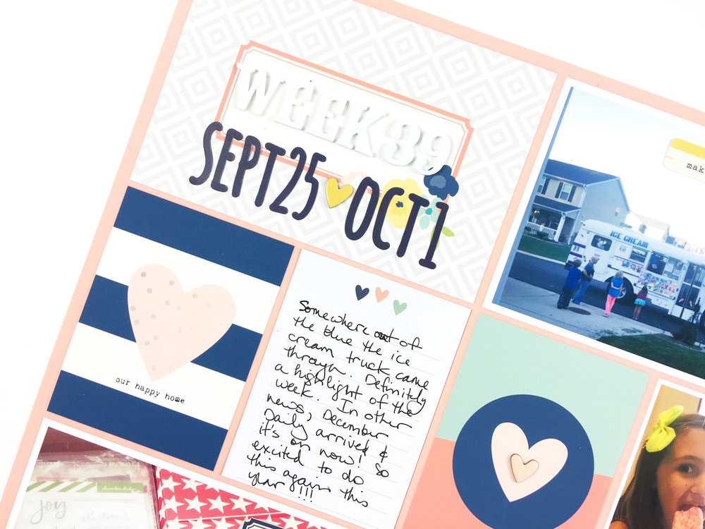 Larkindesign Project Life 2016 Week 39 | Simple Stories Posh Collection!