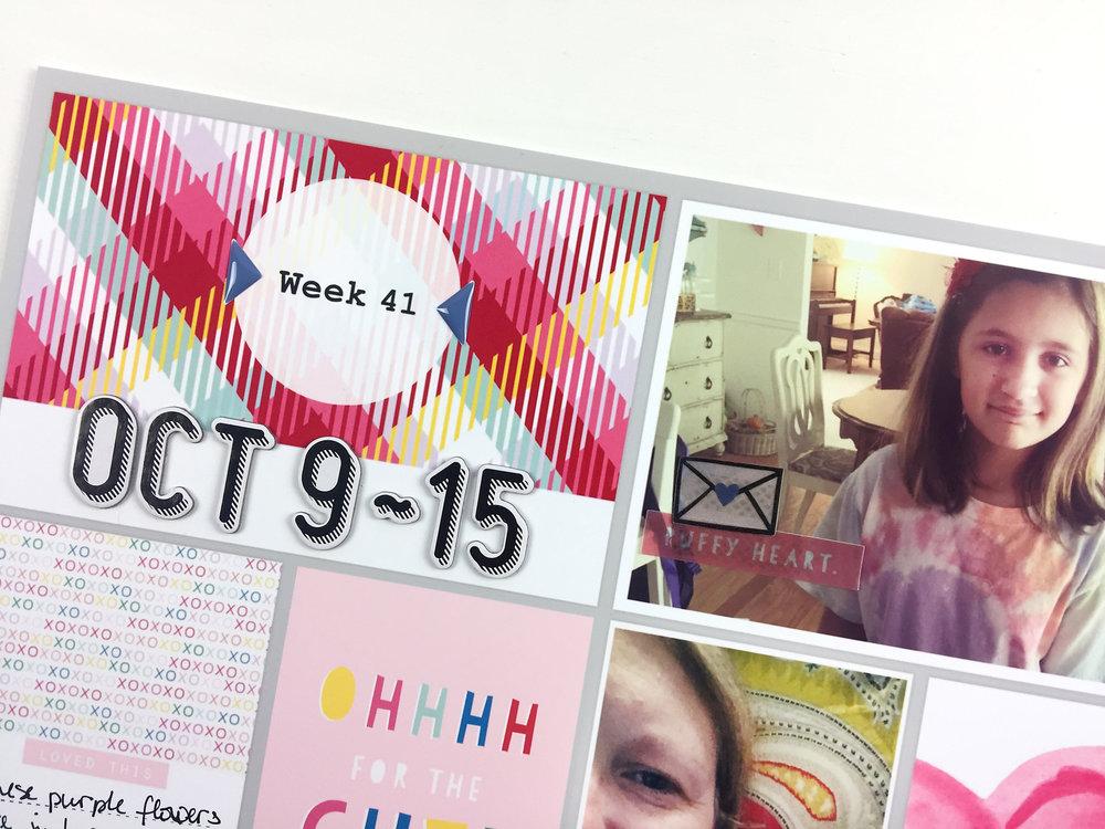 Larkindesign Project Life 2016 Week 41
