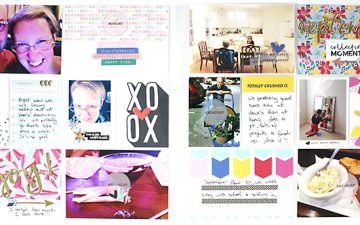 Larkindesign Project Life 2014 September Round Up Layout