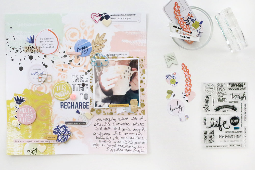 {Traditional Layout} Things I Need to Hear | Take Time To Recharge