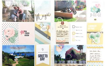 Bermuda Honeymoon Album | Layout 01 feat. Project Mouse Beginnings!!!!