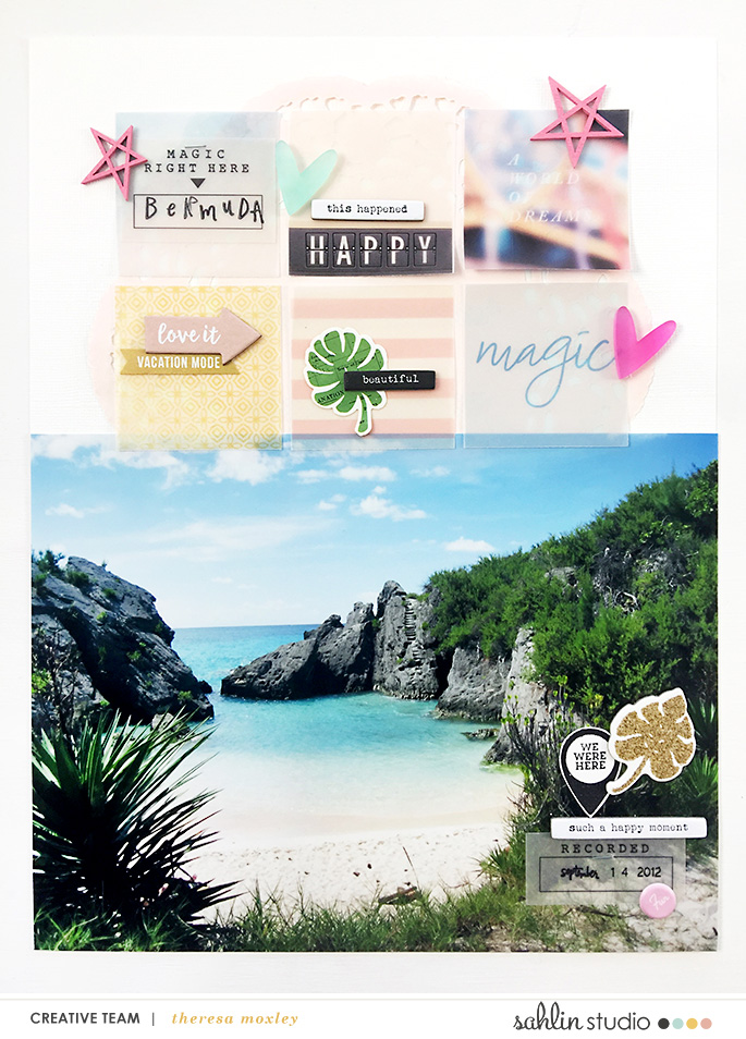 Larkindesign Bermuda Honeymoon Album | Layout 02 Horseshoe Bay Hybrid