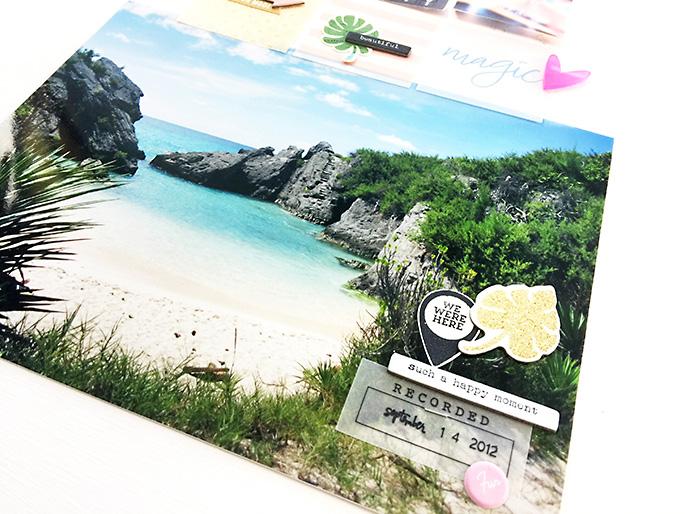 Larkindesign Bermuda Honeymoon Album | Layout 02 Horseshoe Bay %28Hybrid%29