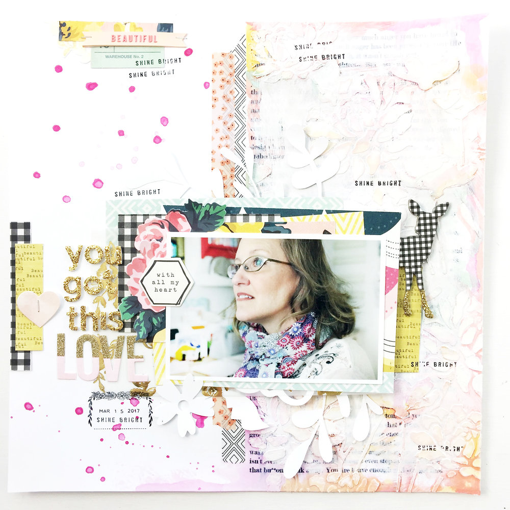 Larkindesign Traditional Mixed Media Layout | You Got This feat. Maggie Holmes BloomLarkindesign Traditional Mixed Media Layout | You Got This feat. Maggie Holmes Bloom