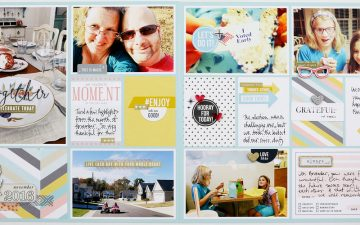 Larkindesign Project Life 2016 November Round-up Layout