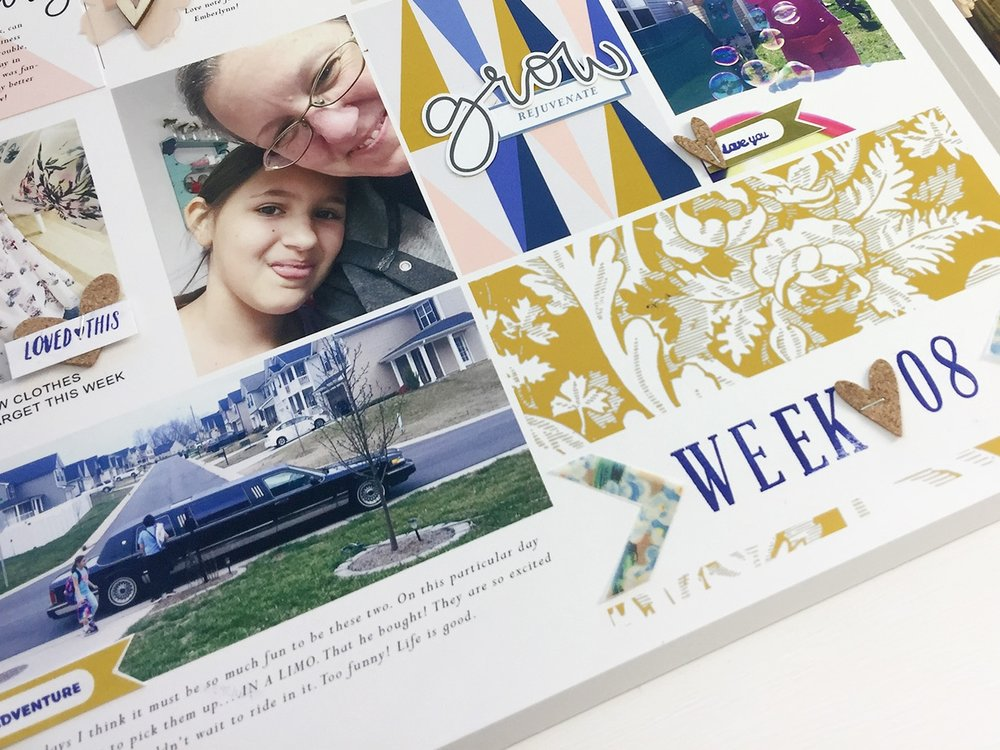 Larkindesign Project Life 2017 Week 08 | A Hybrid Scrapbook Layout
