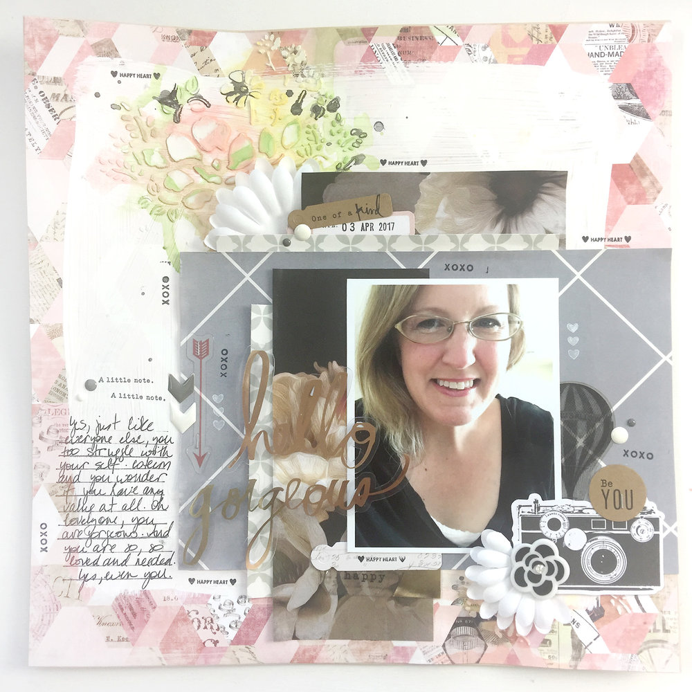 Traditional Mixed Media Layout | Hello Gorgeous