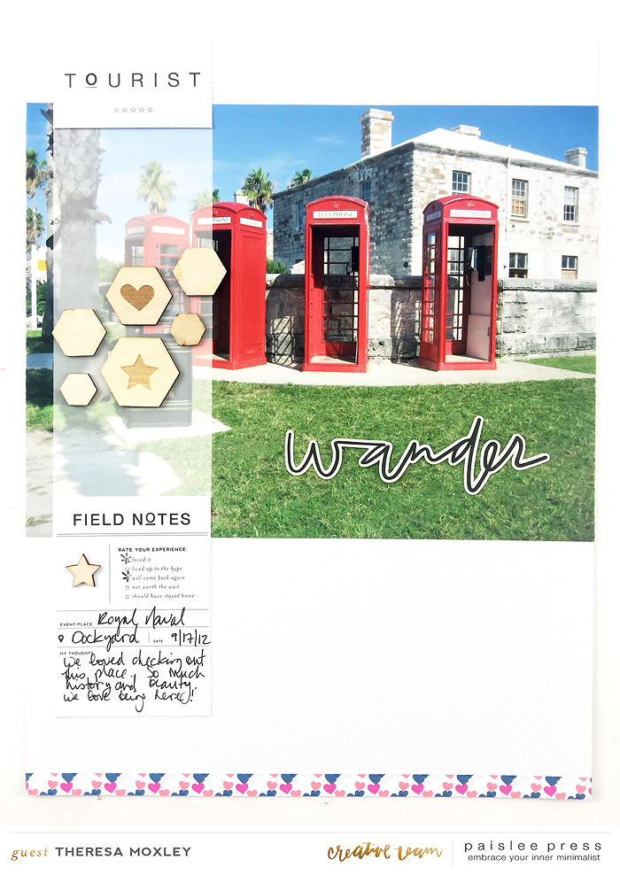 Paislee Press CT Guest Designer Theresa Moxley | Bermuda Honeymoon Album Layout No. 08Paislee Press CT Guest Designer Theresa Moxley | Bermuda Honeymoon Album Layout No. 08