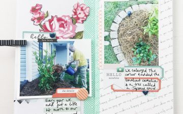 Traveler's Notebook | 2017 Gardener's Notebook Hello Sunshine ft. Gossamer Blue!