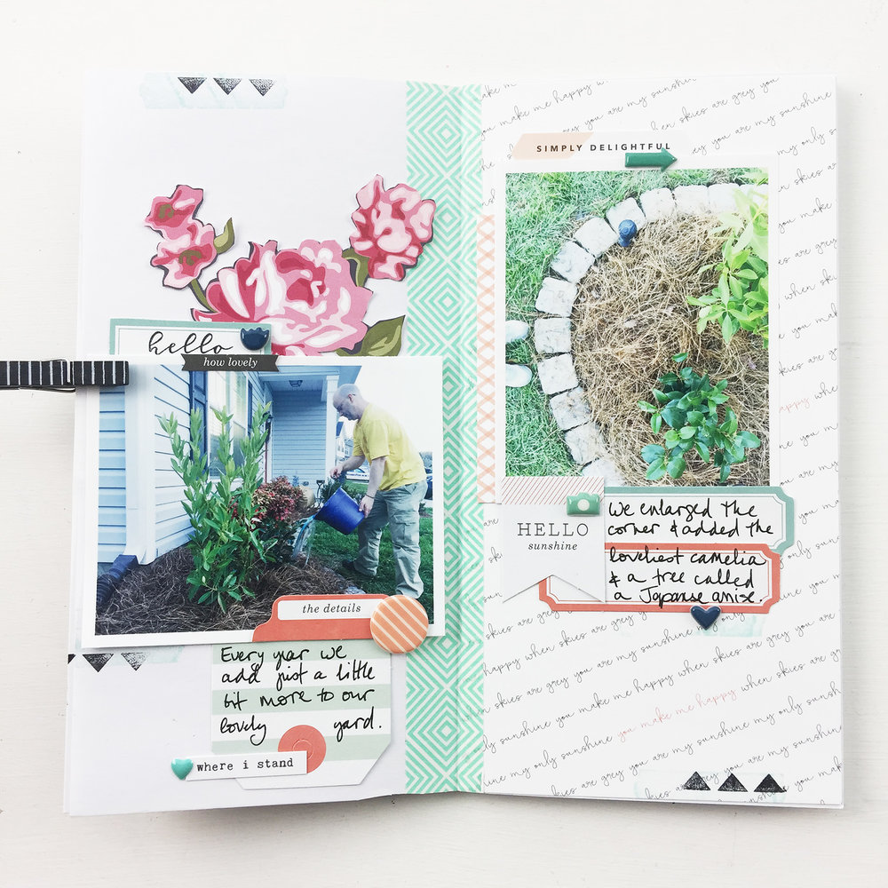 Traveler's Notebook | 2017 Gardener's Notebook Hello Sunshine ft. Gossamer Blue!