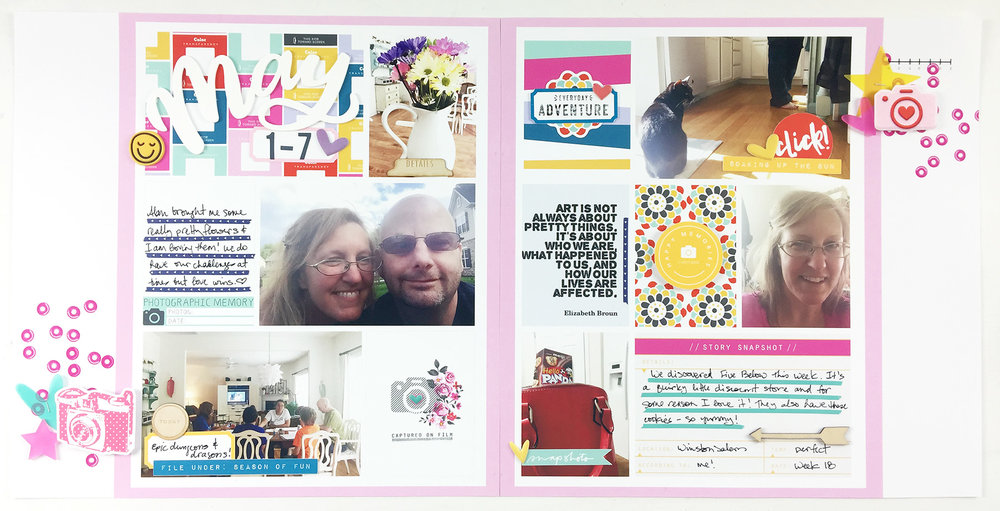 Project Life 2017 Week 18 | ft. The Lilypad MPM July Kit Snapshots!!
