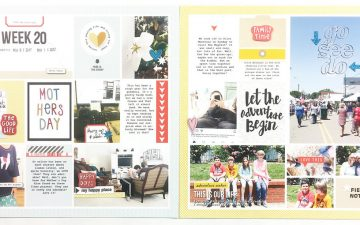 Project Life 2017 Week 20 | ft. Sahlin Studio Clean Lined Templates No. 02!