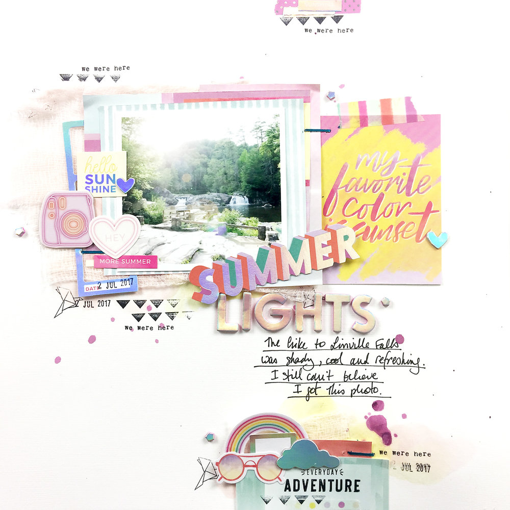 Larkindesign Theresa Moxley Summer Scrappy Challenge | Collab with ScrapandPlanwithLea!!!!!