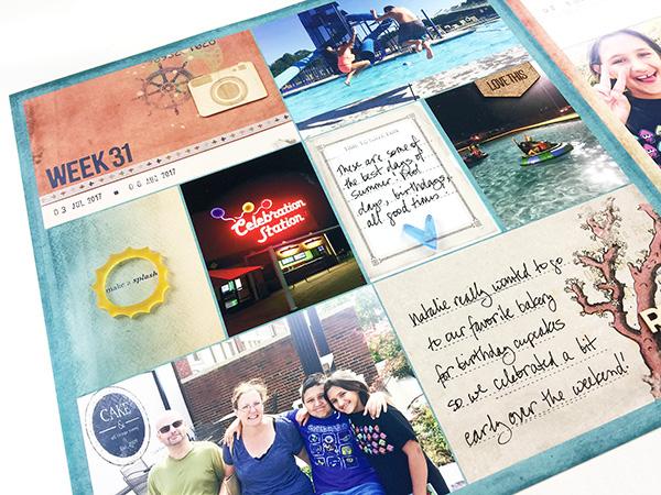 Larkindesign Hybrid Project Life 2017 Week 31 | ft. On A Whimsical Adventure Catching Waves!!!Larkindesign Hybrid Project Life 2017 Week 31 | ft. On A Whimsical Adventure Catching Waves!!!