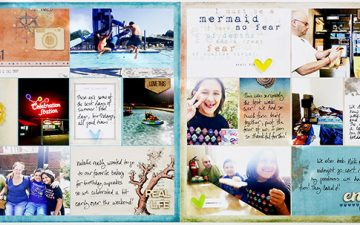 Hybrid Project Life 2017 Week 31   ft. On A Whimsical Adventure Catching Waves!!!