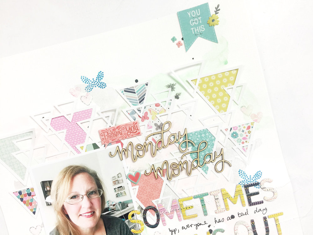 Larkindesign Mixed Media Layout | Monday Monday ft. Paige Evans Turn the Page!!!Larkindesign Mixed Media Layout | Monday Monday ft. Paige Evans Turn the Page!!!