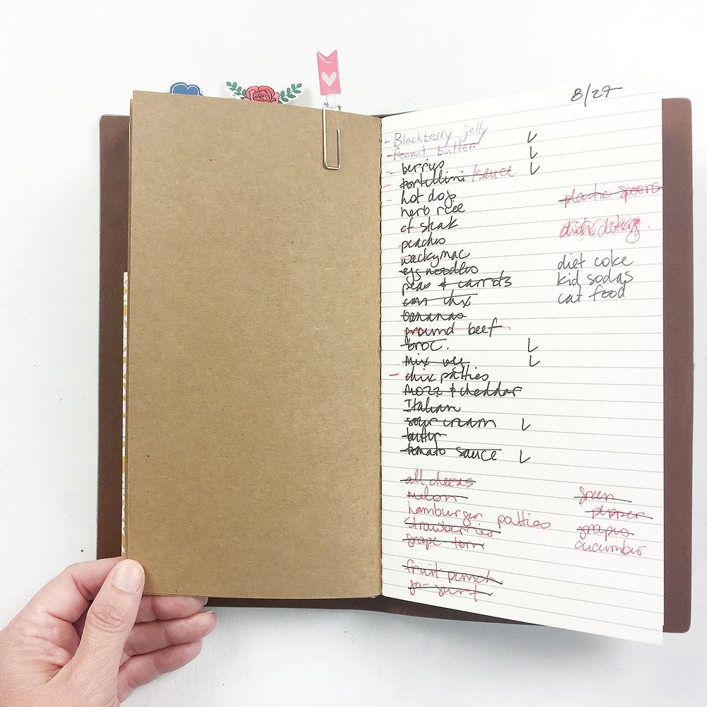 Traveler%27s Notebook | %28Very Simple!!!%29 Meal Planning