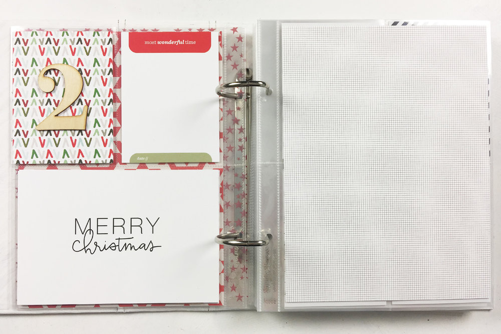 Larkindecember | Foundation Pages Using Ali Edwards December Daily Products!!!