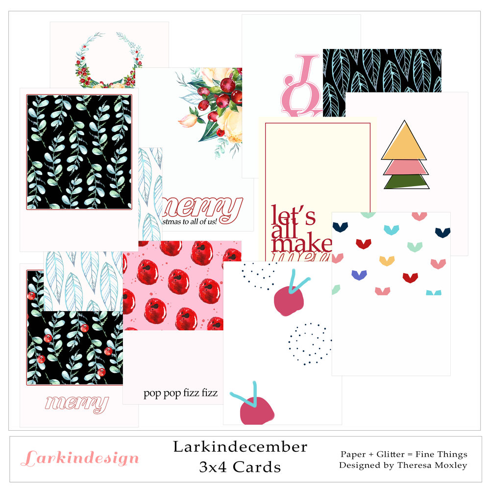 Larkindecember Digital Mini Kit 3x4 Journal Cards