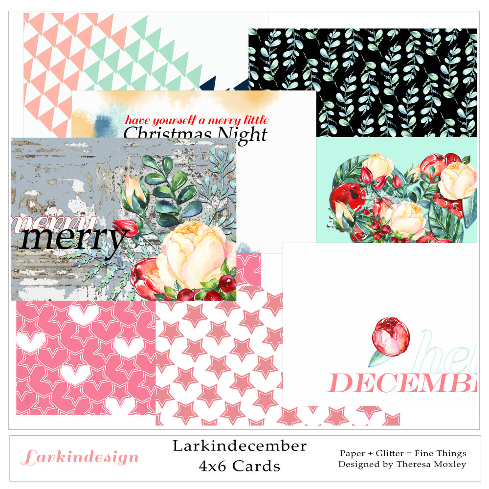 Larkindecember Digital Mini Kit 4x6 Journal Cards