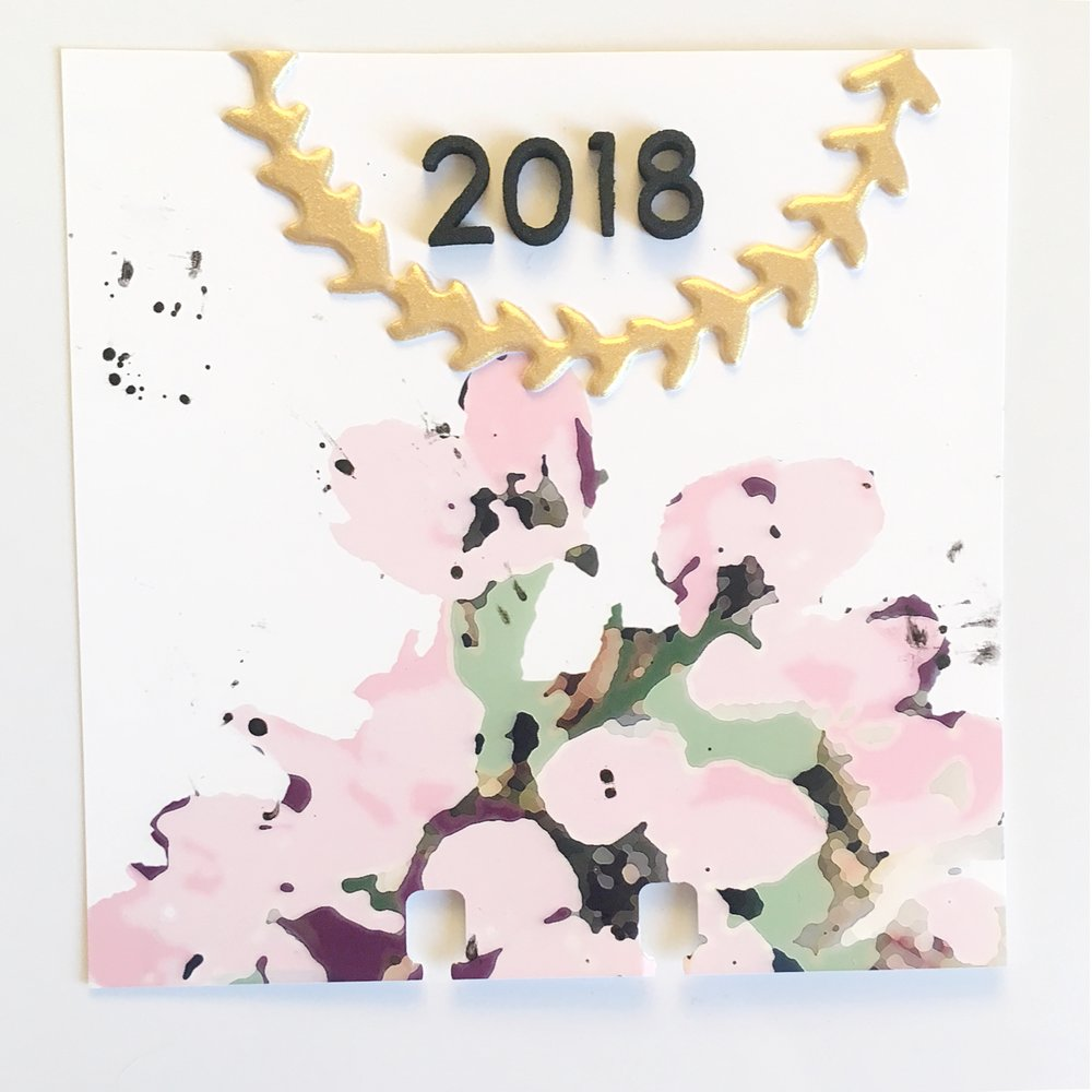 Larkindesign Creative Team Tori Bissell | Memorydex Desk Calendar Using 2018 Calendar Cards