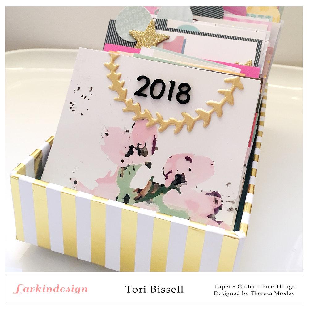 Larkindesign Creative Team Tori Bissell | Memorydex Desk Calendar Using 2018 Calendar Cards