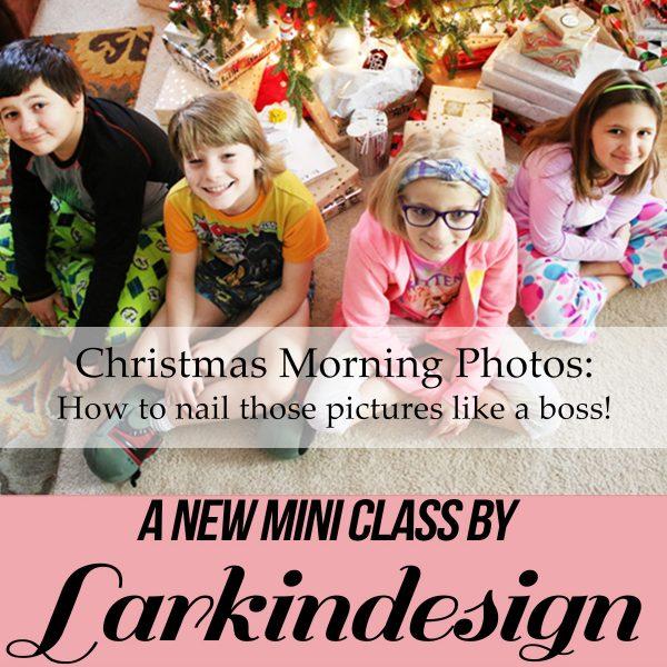 Larkindesign Christmas Morning Photos Mini Class