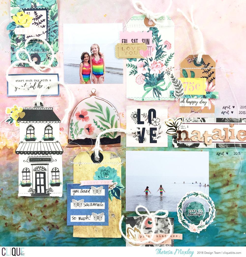 Clique Kits April Layout Share ft. April Winter Park Kit!!!Clique Kits April Layout Share ft. April Winter Park Kit!!!