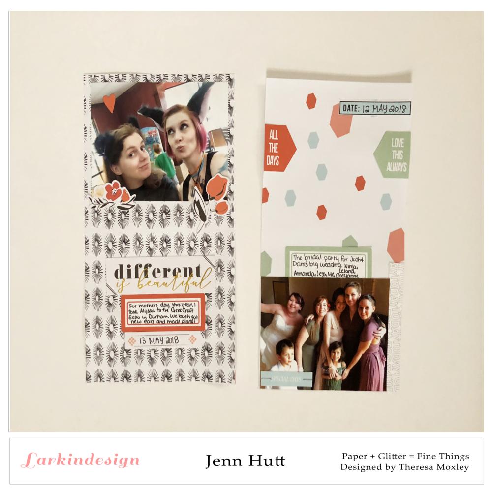 Creative Team Jenn Hutt | Travelers Notebook Layouts ft. Ordinary Moments!!Creative Team Jenn Hutt | Travelers Notebook Layouts ft. Ordinary Moments!!