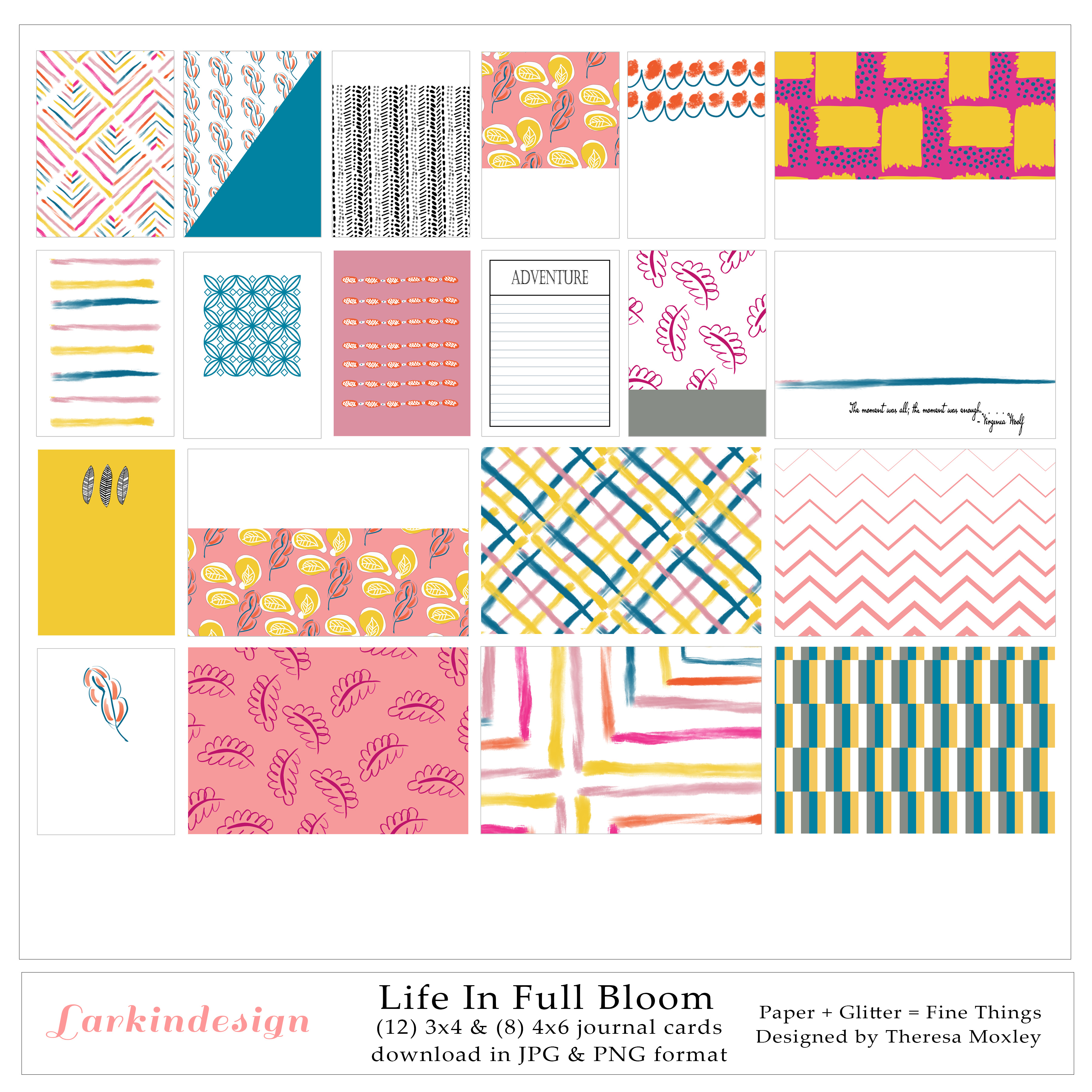 July Release | Larkindesign Digital Collection Life In Full Bloom!!!
