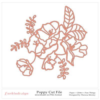 Larkindesign Poppy Digital Cut File
