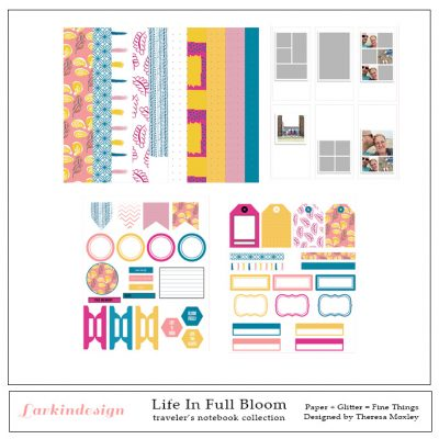 LD - Life In Full Bloom Travelers Notebook Kit Preview