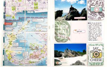Bermuda Honeymoon Album | A Layout Using Maps!