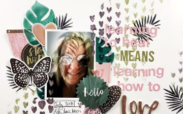 Larkindesign Mixed Media Scrapbook Layout