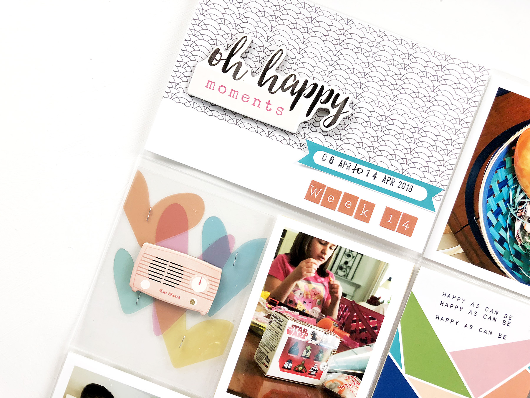 2018 Hybrid Project Life Week 14A ft. The Lilypad MPM Wander June Kit